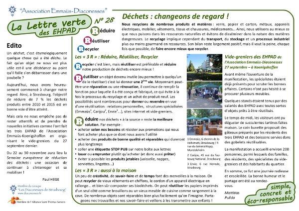 Lettre Verte : déchets, changeons de regard