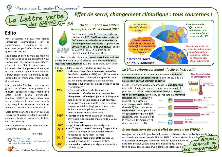 Effet de serre et changement climatique