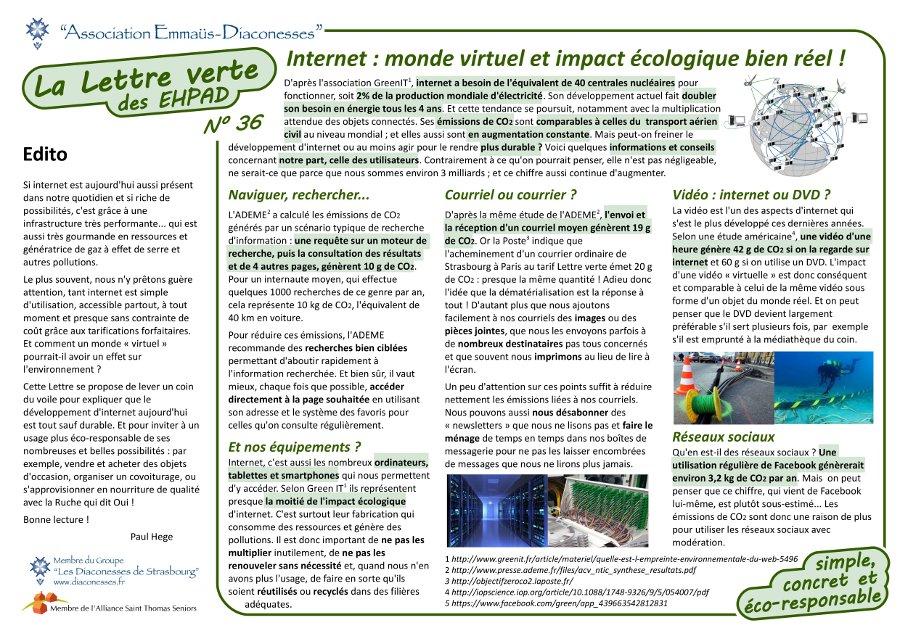 Impact écologique d'internet