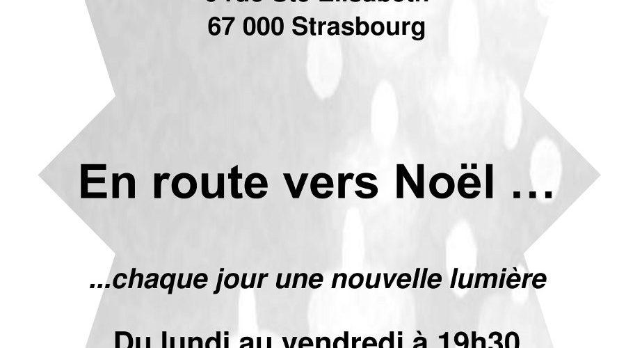 Veillée d'Avent à Strasbourg du 30 novembre au 24 décembre 2015.