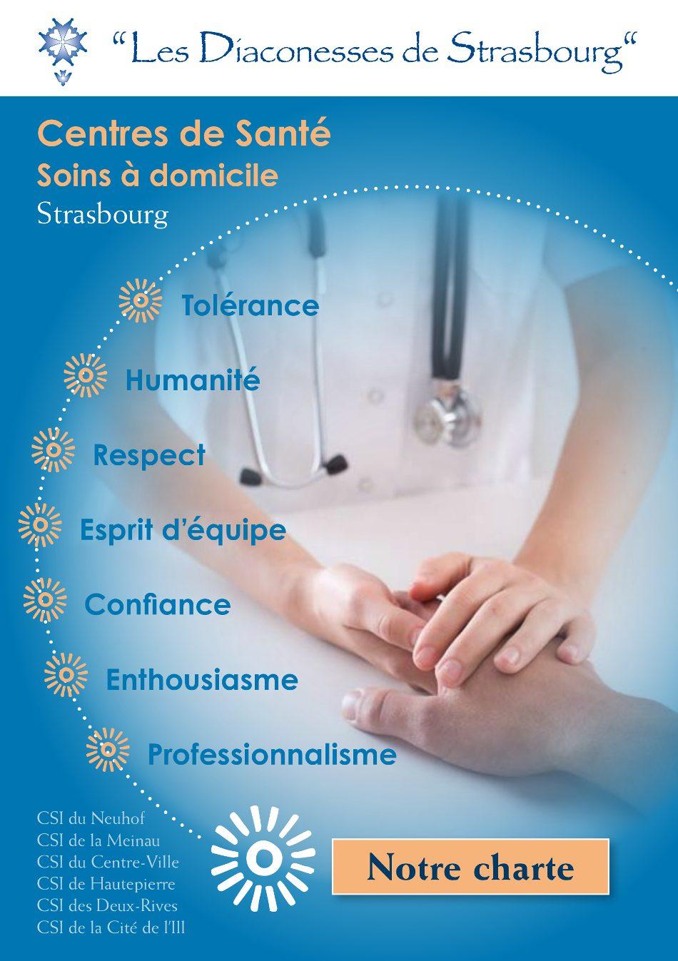 Charte centres de soins infirmiers Strasbourg