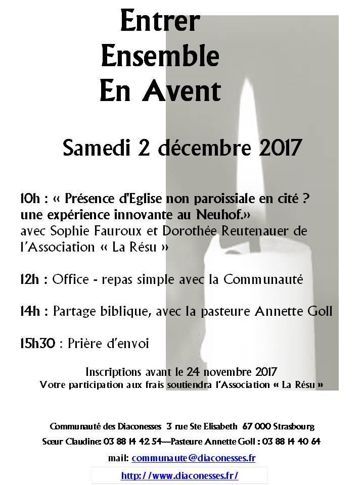Entrer ensemble en avant - 2 décembre à Strasbourg