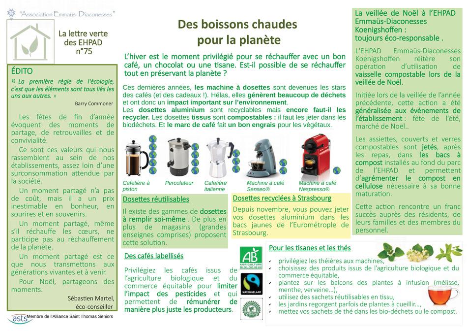 Recyclage dosettes café