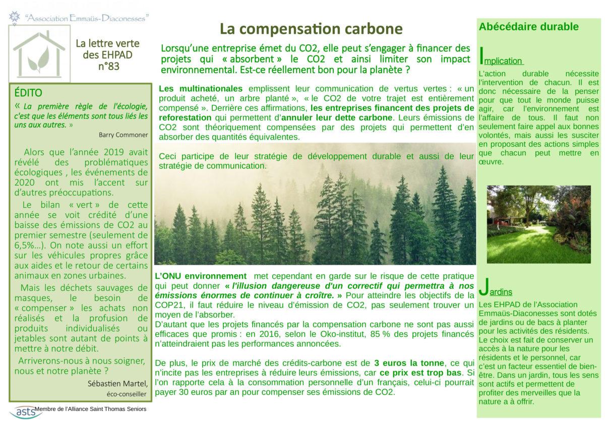La compensation carbone
