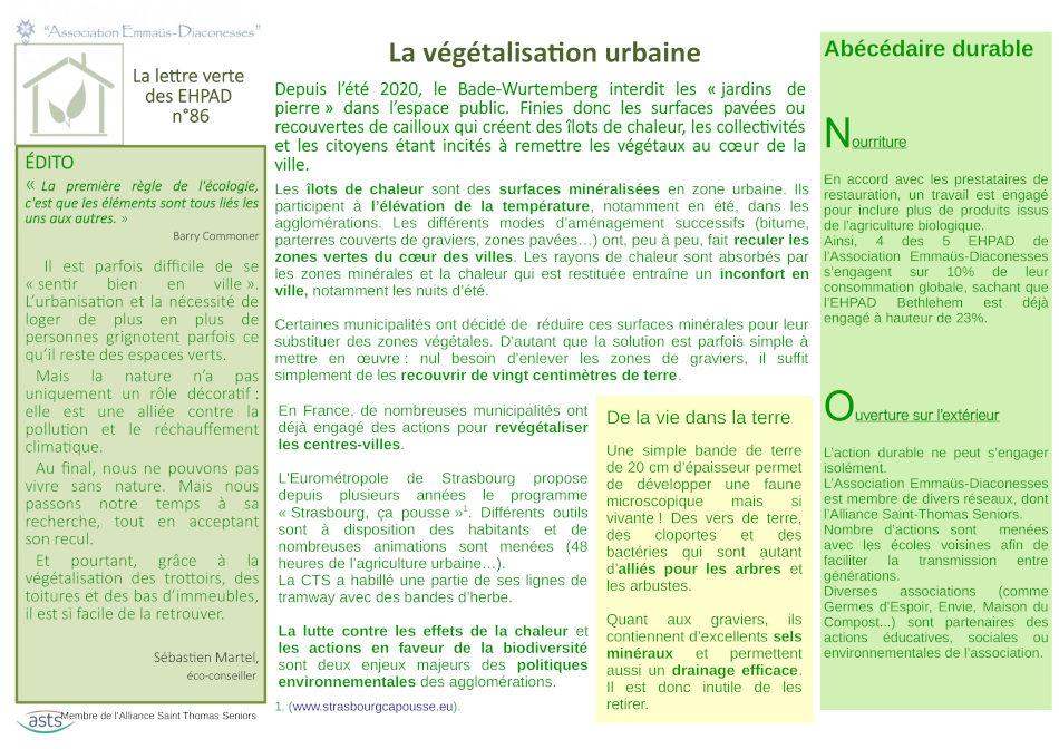 végétalisation urbaine